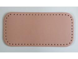 Dno na kabelku z koženky - lososové (15 x 31 cm)