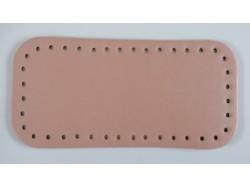 Dno na kabelku z koženky - lososové (12 x 25 cm)