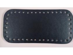 Dno na kabelku z koženky - tmavo modré (12 x 25 cm)