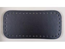 Dno na kabelku z koženky - metalicky modré (12 x 25 cm)