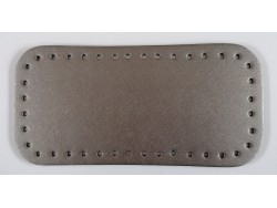 Dno na kabelku z koženky - metalicky šedé (12 x 25 cm)