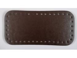 Dno na kabelku z koženky - hnedé (12 x 25 cm)