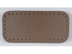 Dno na kabelku z koženky - kapučínové so struktúrou kože (12 x 25 cm)
