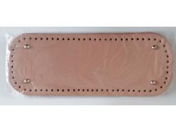 Dno na kabelku z koženky - lososové (12,5 x 33 cm)