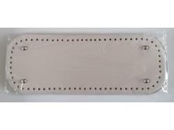 Dno na kabelku z koženky - krémové (12.5 x 33 cm)