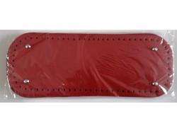 Dno na kabelku z koženky - červené (12.5 x 33 cm)