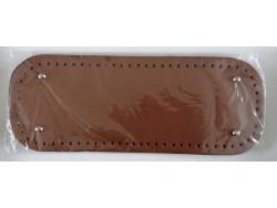 Dno na kabelku z koženky - hnedé (12.5 x 33 cm)