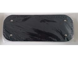 Dno na kabelku z koženky - tmavo modré (12.5 x 33 cm)
