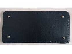 Dno na kabelku z koženky - tmavo modré (15 x 31 cm)