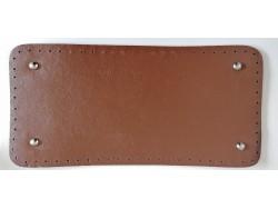 Dno na kabelku z koženky - svetlo hnedé (15 x 1 cm)