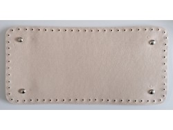 Dno na kabelku z koženky - vanilkové (15 x 31 cm)