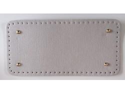 Dno na kabelku z koženky - šedé so štruktúrou kože (15 x 31 cm)