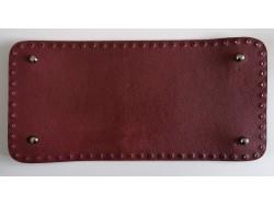 Dno na kabelku z koženky - bordové (15 x 31 cm)