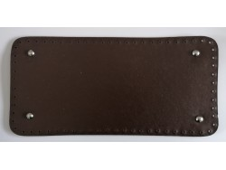 Dno na kabelku z koženky - tmavo hnedé (15 x 31 cm)