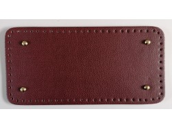 Dno na kabelku z koženky - bordové so štruktúrou kože (15 x 31 cm)
