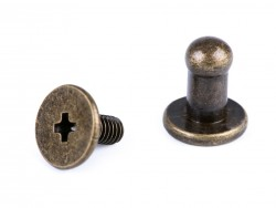 Sedlársky nit šróbovací - staromosadz - 7 mm