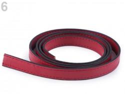Rúčky na tašky - červené - polotovar - 15 mm