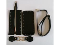 Súprava na kabelku so zipsom - čierna