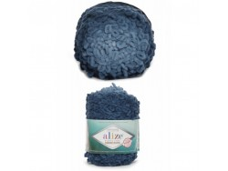 Puffy fine ombre batik - modrá