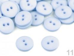 Plastový gombík matný - ľadovo modrý - veľkosť  24
