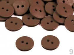Plastový gombík matný - hnedý (1,5 cm)