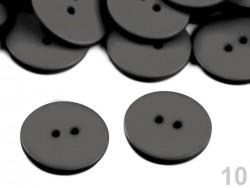 Plastový gombík matný - šedý (2,2 cm)