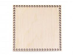 Drevené dno na košík - štvorec (15 x 15 cm)