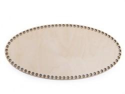 Drevené dno na košík - ovál (15 x 30 cm)