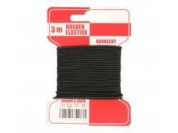 Klobúková guma - čierna - 3 mm
