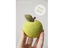 Návod - Háčkované jabĺčko od Miri