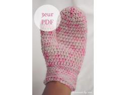Pattern - crochet mittens by Miri