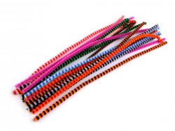 Chlpaté drôtiky  ( do hornej časti rúšok / do hračiek) - ružové