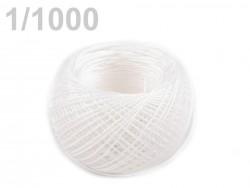 Lanová niť - 50 m v plastovom puzdre - biela