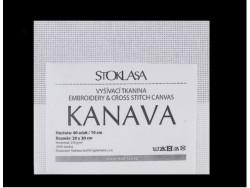 Vyšívacia tkanina Kanava 20x30 cm 40 očiek - biela