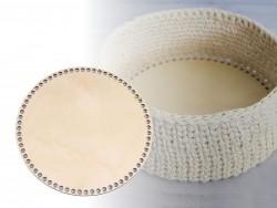 Drevené dno na košík - kruh (priemer 20 cm)