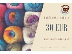 Darčekový poukaz - 30 eur