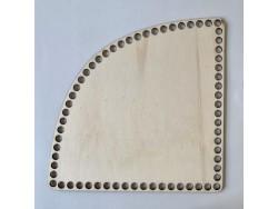 Drevené dno na košík - roh (15 cm)