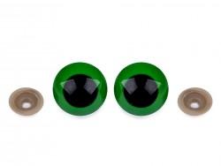 Bezpečnostné očká - zelené (30 mm)