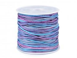Bavlnená šnúra - modrá - 1 mm