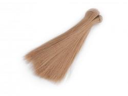 Vlasy pre bábiky - svetlo hnedé - 15 cm