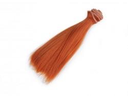 Vlasy pre bábiky - hrdzavé - 15 cm