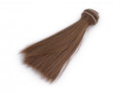 Vlasy pre bábiky - hnedé - 15 cm