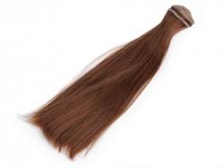 Vlasy pre bábiky - hnedé - 20 cm
