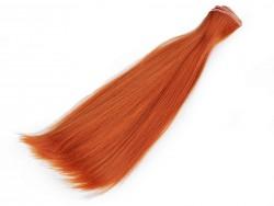 Vlasy pre bábiky -  hrdzavé - 20 cm