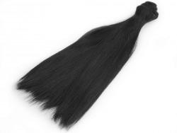 Vlasy pre bábiky - čierne - 20 cm
