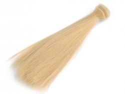 Vlasy pre bábiky - blond - 20 cm