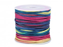 Bavlnená šnúrka - multicolor - 1 mm