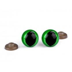 Mačacie očká - zelené - 14 mm