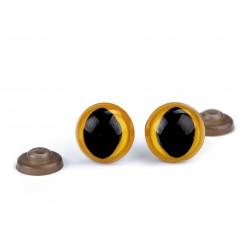 Mačacie očká - žlté - 14 mm
