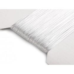 Saténová šnúra - biela